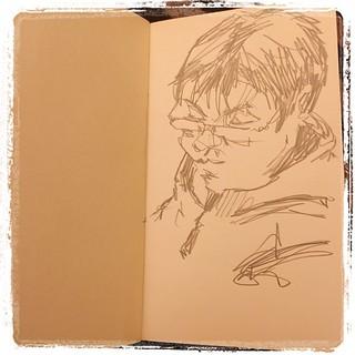 #japon #portraits #metro #urbansketch #pentel #kerry #moleskine