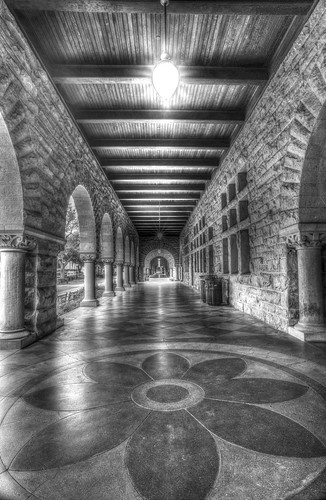 The Long Hall B&W by Geoff Livingston