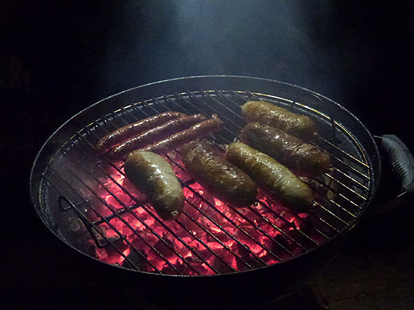 andouilles sur le grill