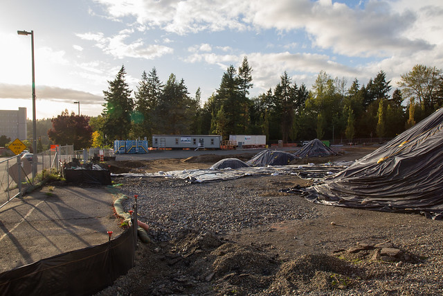 S 200th Link Construction: Parking Garage Site Prep