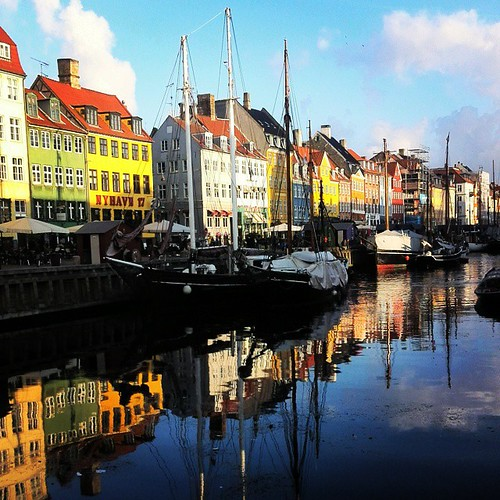 Nyhavn at Copenhagen.