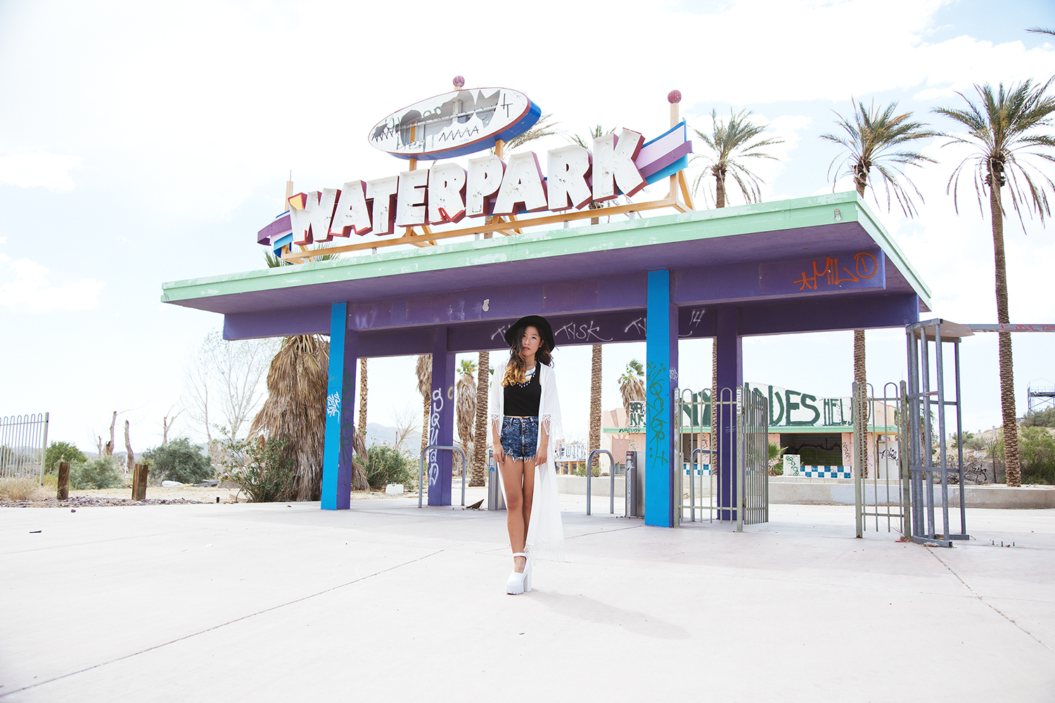 jeffrey campbell scully, rock a hoola water park,