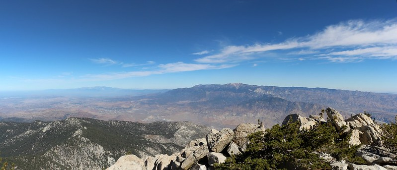 View NW to Baldy and San Gorgonio from the Folly Peak Summit