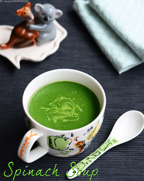 Easy spinach soup recipe | Soup recipes