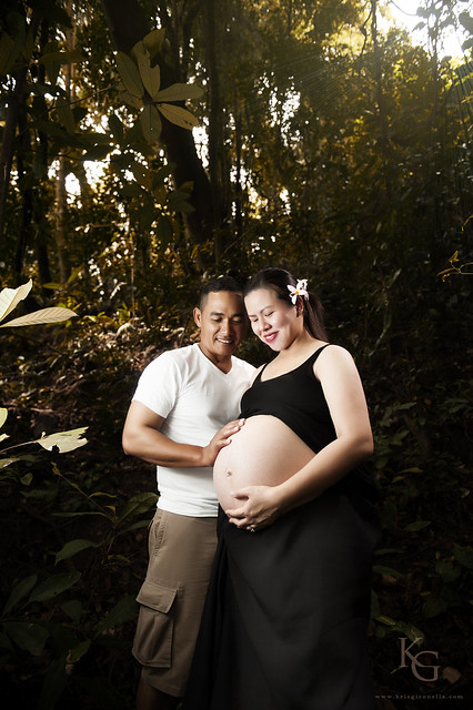 Prenatal Photo Session - Jon and Alice in The Woods