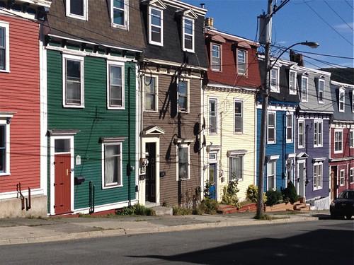 Canada St John's coloured terraces