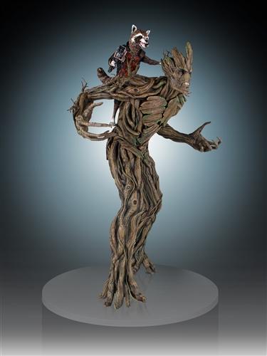 Gentle Giant – 星際異攻隊【火箭浣熊 & 樹精格魯特】Roket & Groot 1/4 比例全身雕像