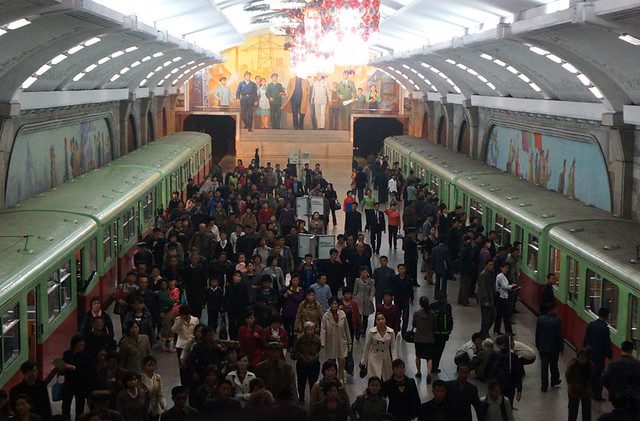 Virtual Tour Through All Stops of the Pyongyang Metro