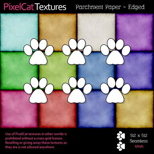 PixelCat Textures - Parchment Paper - Edged
