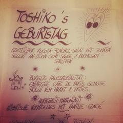 Toshiko Party time. Sie wird 20 Jahre alt. ;)