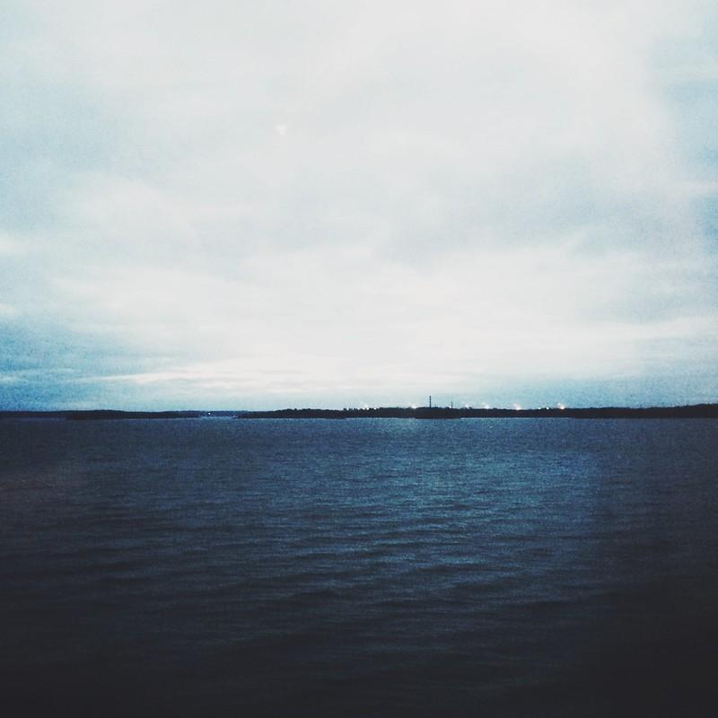 havet från mitt tågfönster