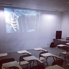 Ayer #Pichuco llegó al aula!!! Durante un Congreso de la #EMPA Foto de la prueba momentos antes de que lleguen los estudiantes!!!