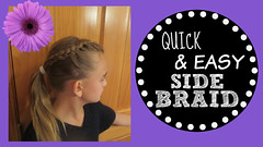 Thumbnail image for Quick & easy side braid