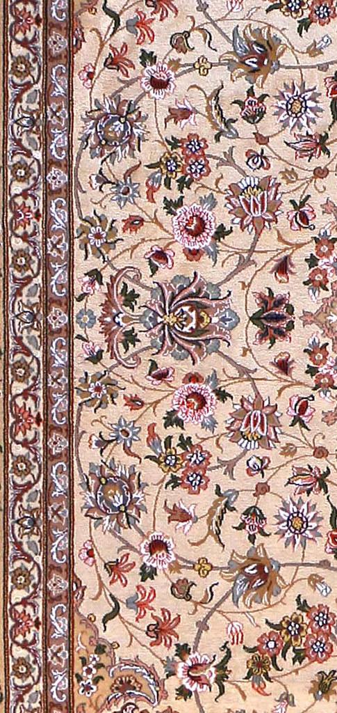 Isfahan Kaf Abrisham 7x10 Persian rug