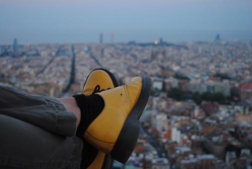 barcelona yellow shoes europe view bunker carmel