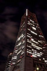 Yokohama Landmark Tower by night