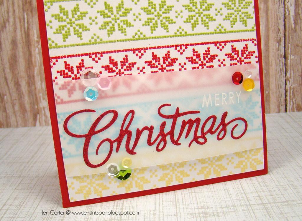 Jen Carter 11.1 Scandi Christmas, Christmas Die Closeup