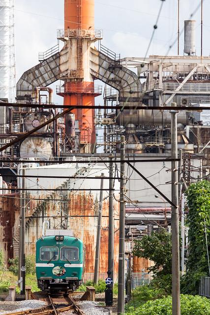 岳南鉄道と工場 Gakunan & Factory
