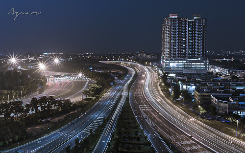 city light night landscape one long exposure trail malaysia jaya subang skypark lanskap