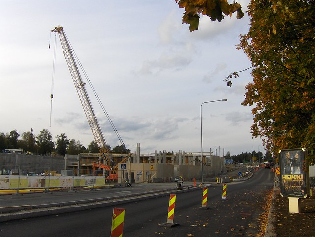 Hämeenlinnan moottoritiekate ja Goodman-kauppakeskus: Työmaatilanne 22.9.2012 - kuva 1