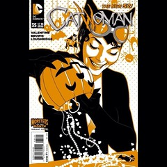 Catwoman is back from Trick-Or-Treating. #Comics #Halloween