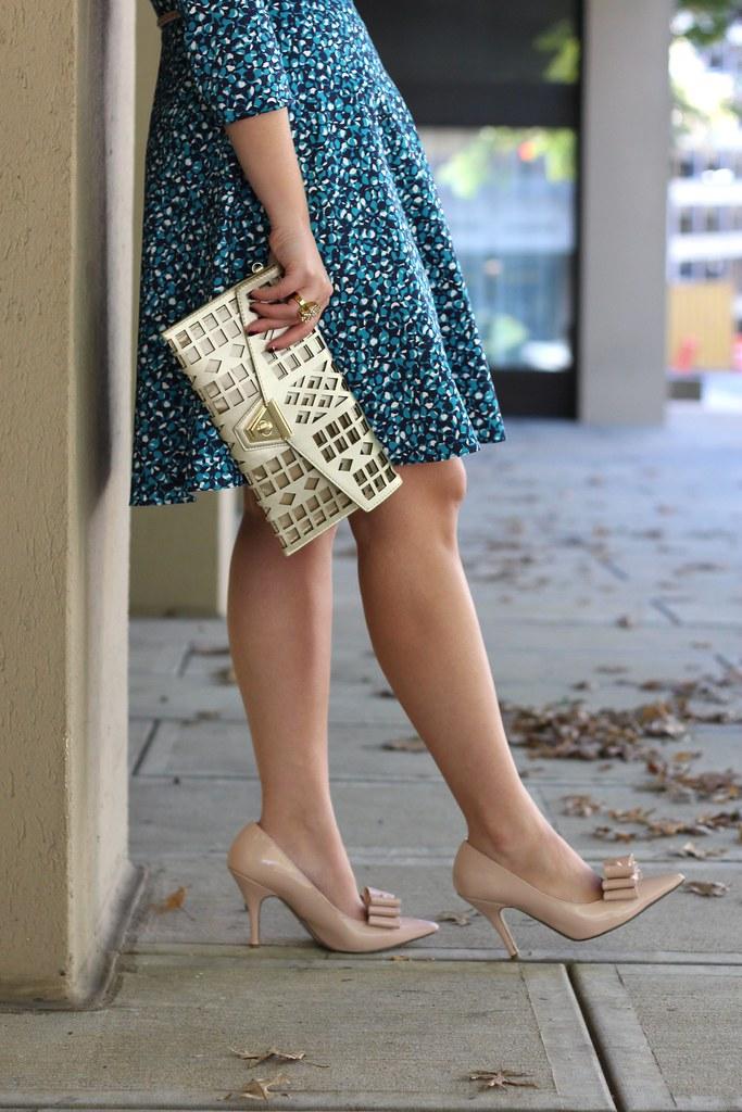 Piol Blue Printed Dress | Outfit | #LivingAfterMidnite