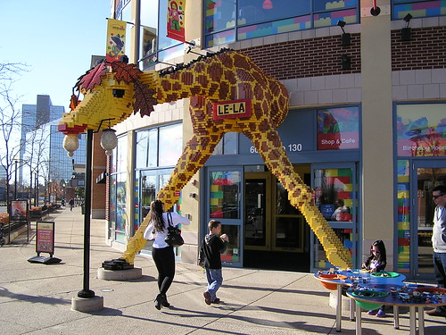 Lela the Giant Lego Giraffe