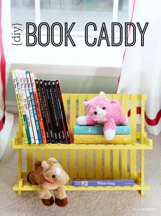 Hi Sugarplum | DIY Book Caddy