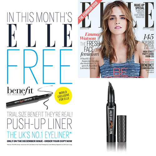 elle mag december issue with free benefit they 39 re real