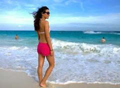 Am Strand von Paradise Island