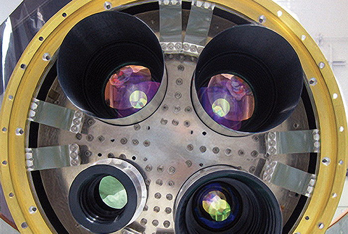 The optical array on the CIBER instrument, image from NASA.