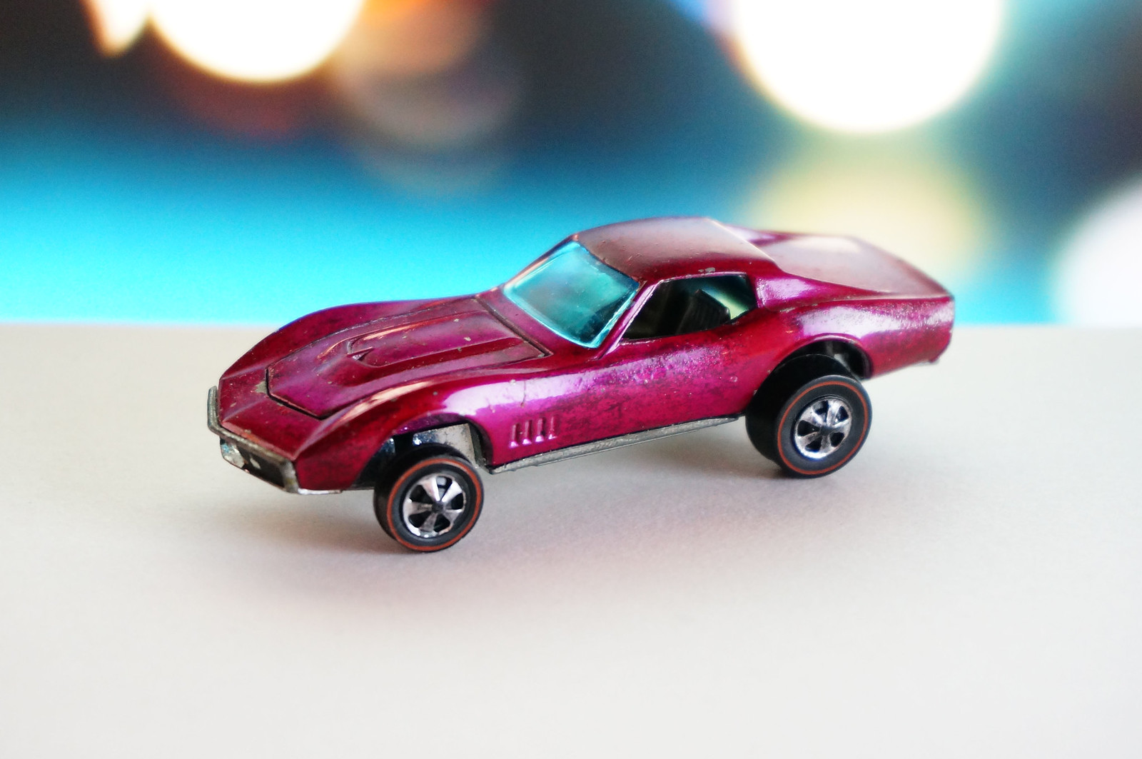 Hot Wheels Redline Rare Creamy Pink Custom Corvette HK