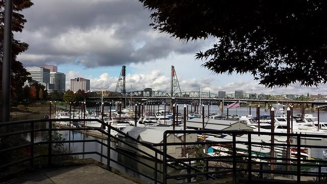 Portland Oregon_ boats and bridges_ photo by D. Kelley