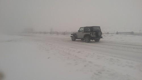snow storm mount rogers jeep