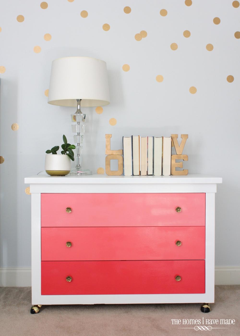 Pink Ombre Dresser-001