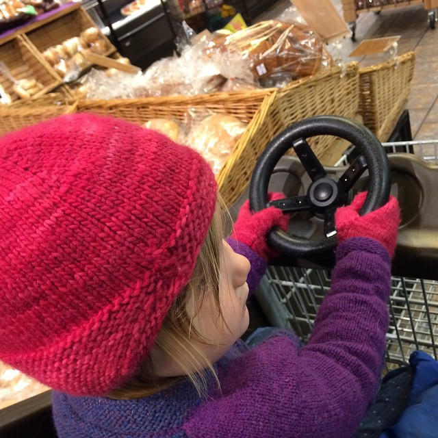 The car cart makes Wegmans trips slightly less miserable for M!