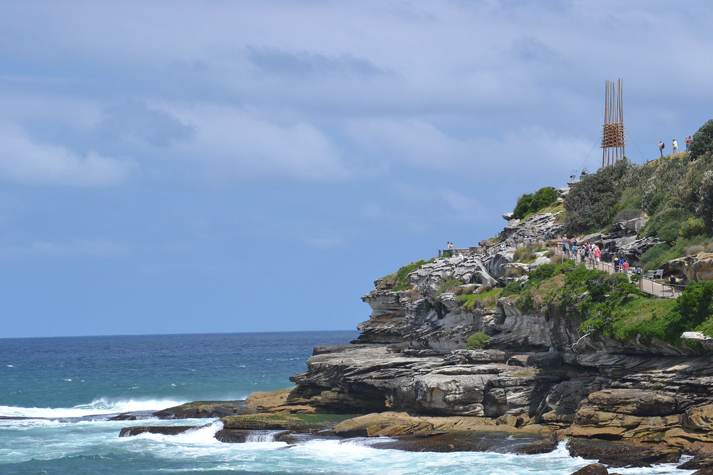 Walking trail between Tamarama & Bondi Beach.