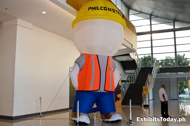 PhilConstruct Mascot Standee