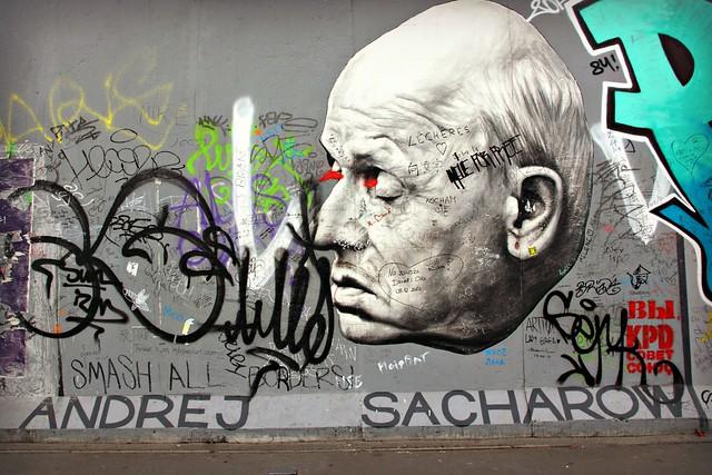 Andrej Sacharow Berliinin muurissa, East Side Gallery