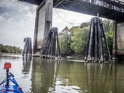 Savannah River from Stokes Bluff with LCU Nov 7, 2014, 4-18 PM Nov 8, 2014, 11-061