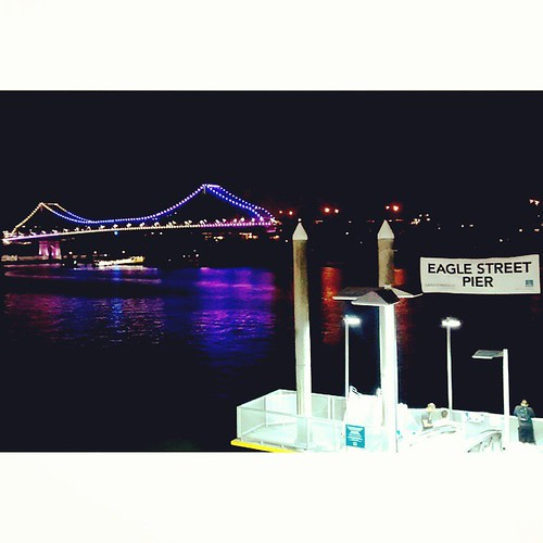 We had the pleasure of seeing the Story Bridge last night in all its colorful glory. #Brisbane #g20cultural