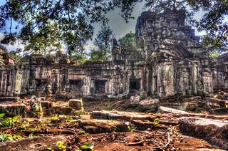 Image of Angkor Wat near Siem Reap. ankorarchaeologicalpark ankorwat cambodia decay hdr holidays mangojouneys photomatix topazlabs trees