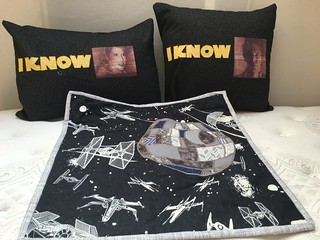 Star Wars Pillows and Death Star Wall Hanging