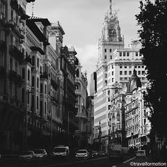 #historic #madrid in #blackandwhite #blackandwhitephotography #streetphotography #vsco #vscocam #wanderlust #travel #travelgram #guardiantravelsnaps #guardiancities #visitmadrid #visitamadrid #españa #capital #igespaña #streets #facades