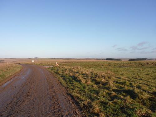 Long Backviews along American Road on Salisbury Plain