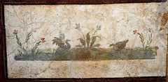 """Nilotic landscape with birds"" - wall painting (60-79 AD) from Pompeii - Naples, Archaeological Museum"