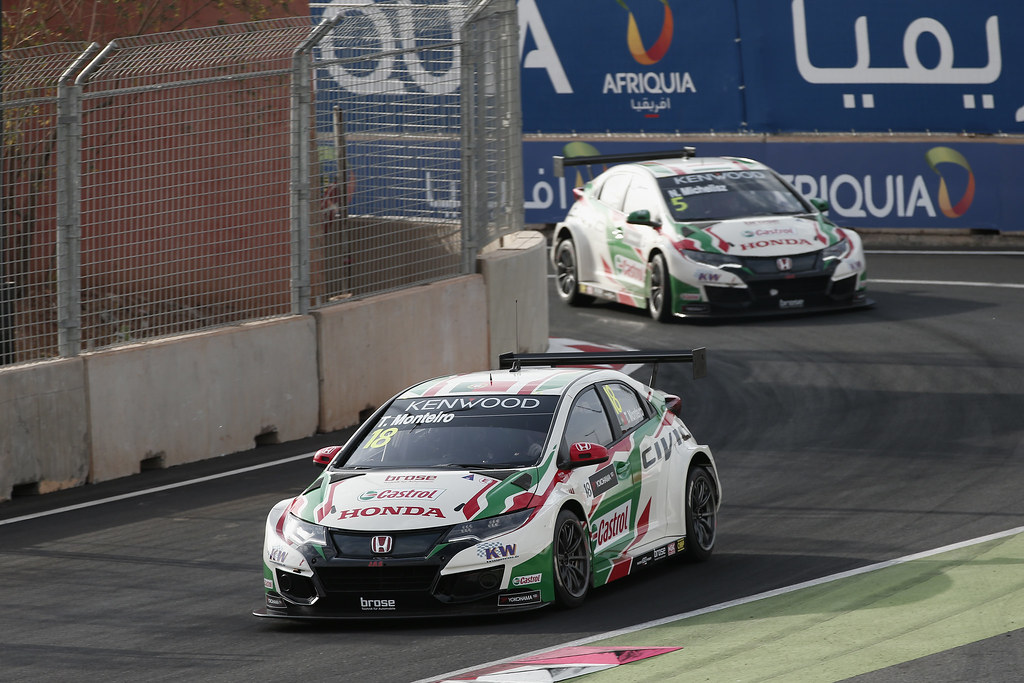 18 MONTEIRO Tiago (prt) Honda Civic team Castrol Honda WTC action during the 2017 FIA WTCC World Touring Car Race of Morocco at Marrakech, from April 7 to 9 - Photo Jean Michel Le Meur / DPPI.