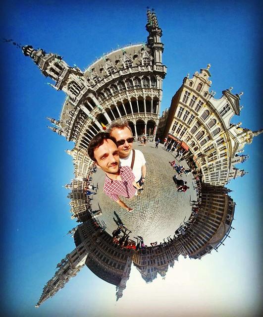Our Little World - Brussels Grand Place #benheineart #city #brusselsgrandplace #earth #gear360 #fisheye #belgium #benheine #ourlittleworld #aroundtheworld #photography