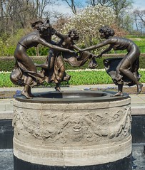Three Dancing Maidens Sculpture, Untermyer Fountain, Conservatory Garden, Central Park, New York City