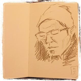 #japon #moleskine #metro #portraits #urbansketch #pentel #kerry